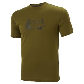 Helly Hansen Skog Graphic Koszulka Mężczyźni, oliwkowy